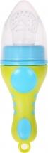 Ниблер Mum&Baby силиконовый, лайм/голубой