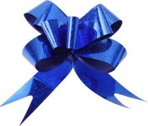 Бант-затяжка голография 1,2 см, синий
