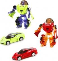 Трансформер Робот-Машина Пламенный мотор Космобот зеленый/красный