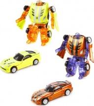 Трансформер Робот-Машина Пламенный мотор Космобот желтый/оранжевый