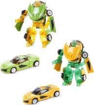 Трансформер Робот-Машина Пламенный мотор Космобот зеленый/желтый