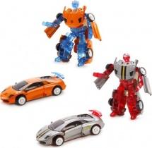 Трансформер Робот-Машина Пламенный мотор Космобот оранжевый/серый