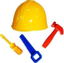 Набор инструментов Пластмастер Ремонтник 4 предмета с каской