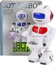 Робот-барабанщик с проектором, световые и звуковые эффекты