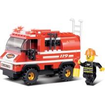 Конструктор Sluban Пожарный. Пожарные спасатели 133 детали