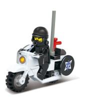 Конструктор Sluban Полиция Мотоцикл 24 детали