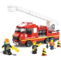 Конструктор Sluban Пожарный. Пожарная машина с выдвижной лестницей 270 деталей