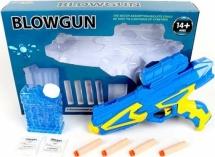 Бластер Blowegun с мягкими пулями 4 шт и гелевыми пулями в контейнере