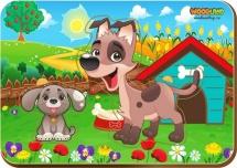 Вкладыши WoodLand Мама и детеныш: Собаки-2