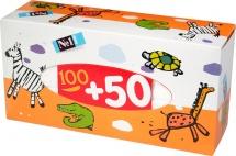 Платочки бумажные Bella baby универсальные 100+50 шт Зебра