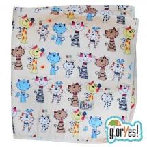 Пеленка GlorYes впитывающая 80х68 см, коты
