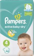 Подгузники Pampers Active Baby 4 (8-14 кг) 46 шт