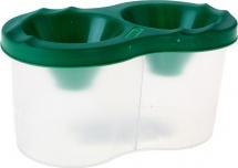Стакан-непроливайка Стамм двойной, зелёный