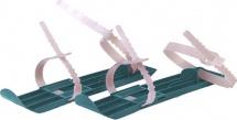 Мини-лыжи с пластиковым ремешком, бирюзовый