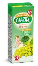 Сок Маленькое счастье Яблоко-Виноград осветленный с 6 мес 200 мл