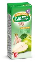 Сок Маленькое счастье Яблоко-Груша осветленный с 4 мес 200 мл