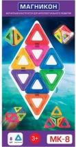Магнитный конструктор Магникон Треугольники, 8 деталей