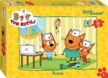 Пазлы Steppuzzle Три кота 35 элементов
