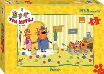 Пазлы Steppuzzle Три кота 60 элементов