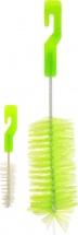 Ершик Пома для бутылочек и сосок, зеленый 2 шт