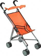 Коляска-трость для кукол Buggy Boom Mixy с крышей, оранжевый