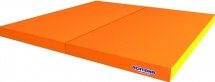 Мат Romana kid 100х100х6 см двойной, оранжевый/желтый