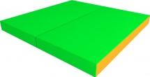 Мат Romana pro 100х100х10 см двойной, зеленый/желтый
