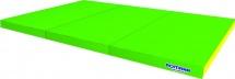 Мат Romana kid 150х100х6 см тройной, зеленый/желтый