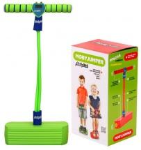 Тренажер для прыжков MobyJumper со счетчиком, светом и звуком, зеленый