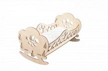 Кроватка для кукол Королева, деревянная