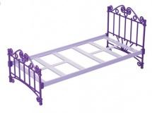 Кроватка для кукол фиолетовая