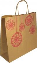 Пакет подарочный Шарики красные 32х32х12 см