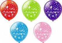 """Воздушный шарик 12""""/30 см С днем рождения! Подарки"""