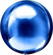 """Воздушный шарик Сфера 3D 20""""/51 см, синий"""