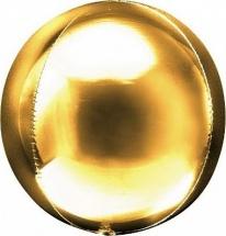 """Воздушный шарик Сфера 3D 20""""/51 см, золото"""