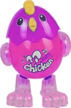 Танцующий цыпленок, световые и звуковые эффекты, розовый