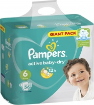 Подгузники Pampers Active Baby 6 (13-18 кг) 52 шт