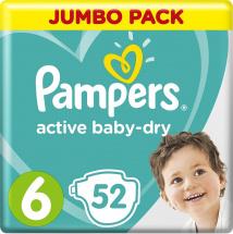 Подгузники Pampers Active Baby 6 (13-18 кг) 52 шт