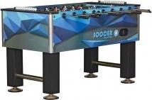 Настольный футбол (кикер) «Roma V» (140x76x87см, синий)