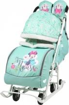 Санки-коляска Ника Disney baby 2, с Минни Маус мятный
