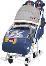 Санки-коляска Ника Disney baby 2, с Микки Маусом синий