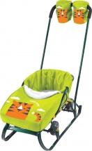 Набор аксессуаров для санок Ника сиденье и рукавички, с тигренком лимонный