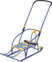 Санки Ника Nikki 2 складные с колесиками, синий