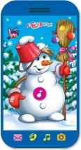 Мини-смартфончик Азбукварик Веселый снеговик