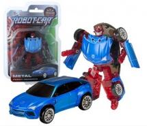Трансформер Робот-Машина Пламенный мотор Космобот синий/красный