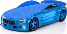 Кровать-машина NEO БМВ объемная 3d с подсветкой фар и спойлером, синий
