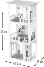 Домик для кукол Дом Жасмин с мебелью