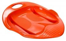 Санки-Ледянка ТД Пластик Снежный гонщик, оранжевый