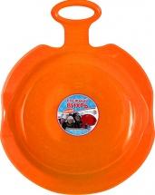 Ледянка ТД Пластик Снежный вихрь, оранжевый