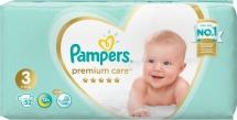 Подгузники Pampers Premium Care 3 (6-10 кг) 52 шт